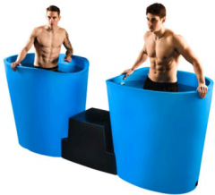 icePod duo gegoten kunststof ijsbaden voor 6 personen onder lichaam of 4 personen hele lichaam demo