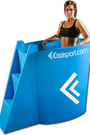 icePod gegoten kunstof ijsbad voor 3 personen onder lichaam of 2 personen hele lichaam demo