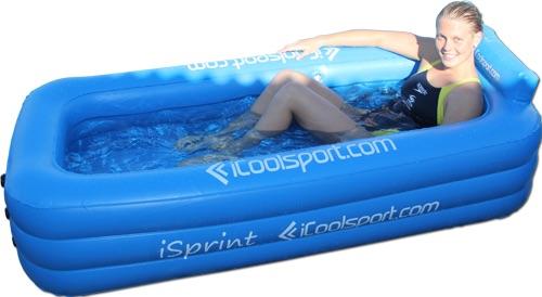 iSprint opblaasbaar ijsbad voor 1 persoon onderlichaam demo