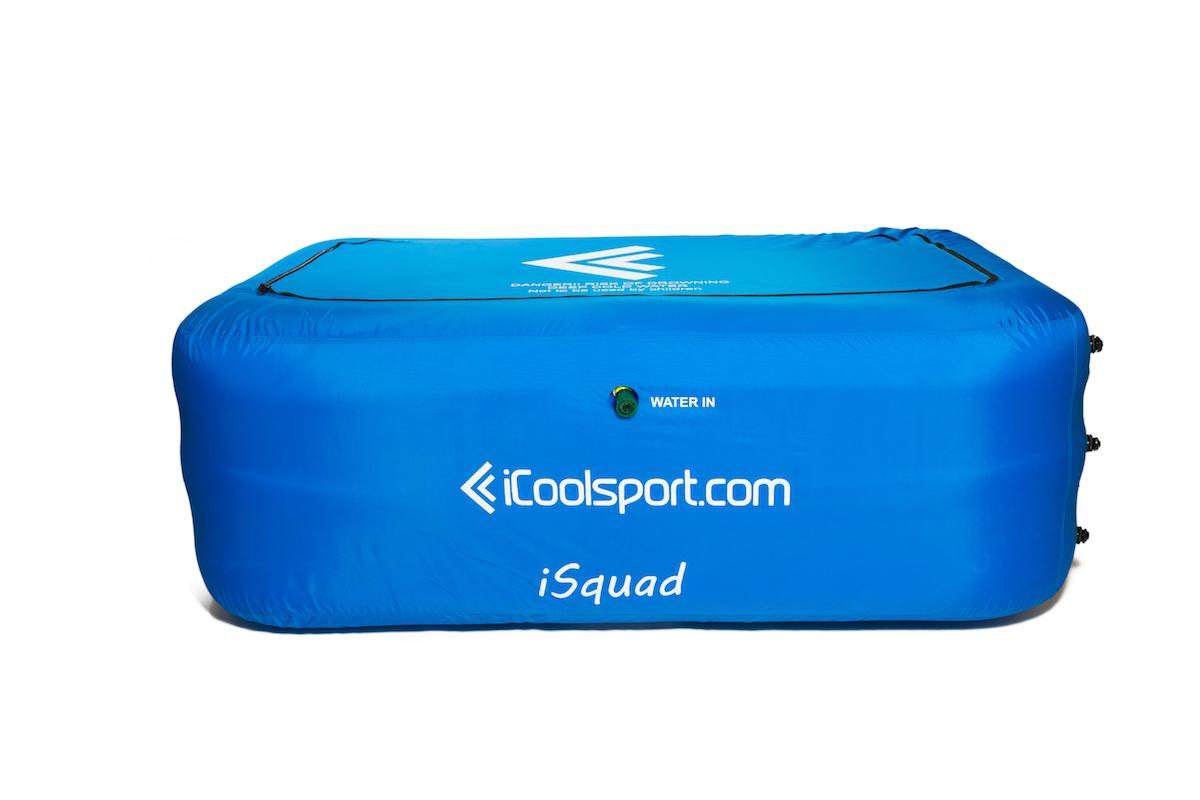 iSquad opblaasbaar ijsbad voor 4 personen hele lichaam open